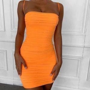 House of CB: Ella neon orange mini dress
